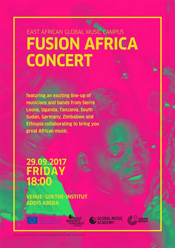 Poster Fusion Africa Concert 2017
